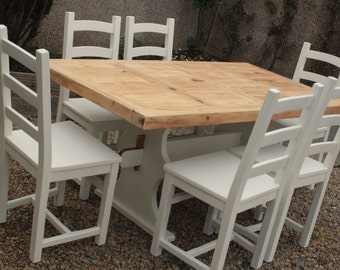 Shabby Chic Table & 6 Chairs