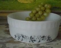 """Pyrex Agee Retro Vintage """"Tiki"""" 1970's Souffle Bowl"""