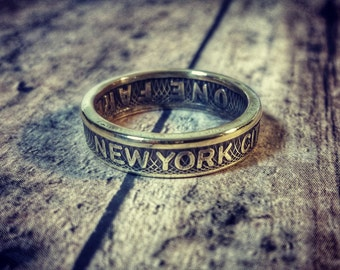 New York City Subway Token Coin Ring, NYC, Wedding Ring, Groomsman Gift, Unique Ring, Special Occassion Gift, Handmade Ring