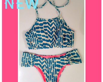 Beautiful swimsuit, Top type halter, Bikini