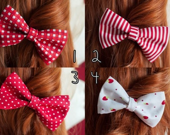 Hair pin cute bow accessory fashion pin up style Red collection