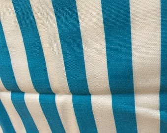 Pretty Blue & White Awning Stripe Stripes Fabric Cotton Heavyweight