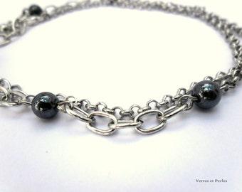 Bracelet or necklace black beads