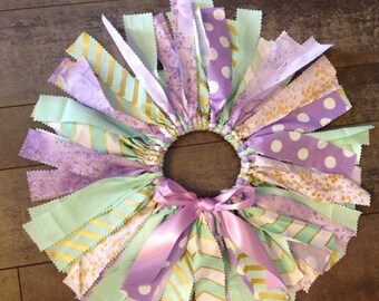 Gorgeous lavender mint and gold fabric tutu, lavender gold mint first birthday tutu