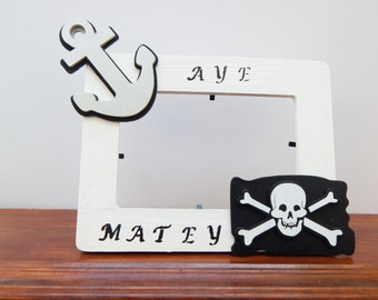 Pirate Frame Boys Room Picture Frame Boys Gift Ideas Children Pirate Accessories