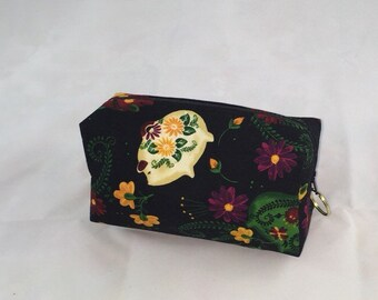 Ceramic Piggy Bank Cosmetic Bag
