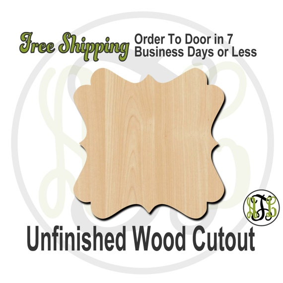 Plaque Mallory - 40009- Cutout, unfinished, wood cutout, wood craft, laser cut shape, wood cut out, DIY, Free Shipping