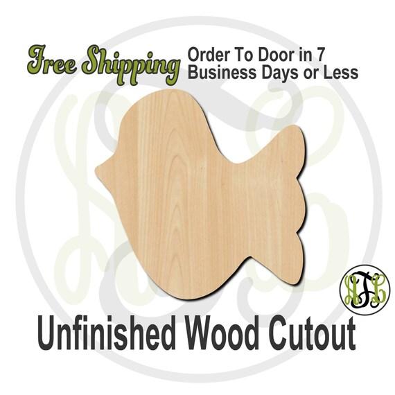 Bird 2- 230002- Bird Cutout, unfinished, wood cutout, wood craft, laser cut shape, wood cut out, Door Hanger, wooden, blank