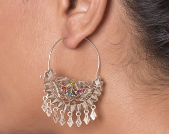 Baawri Handmade Silver Earings