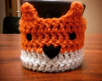 Crochet Fox Coffee Cozy