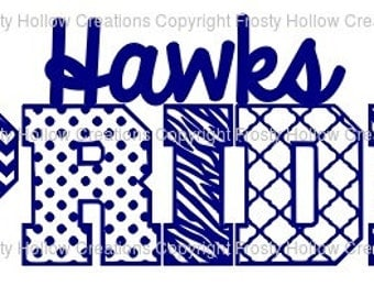 Hawks Pride cutting file SVG instant download PERSONAL USE only!