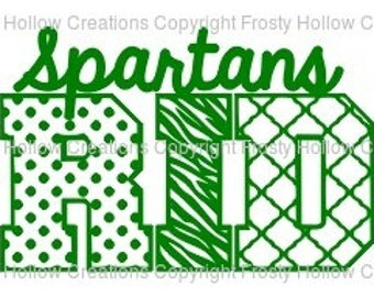 Spartans Pride cutting file SVG instant download PERSONAL USE only!
