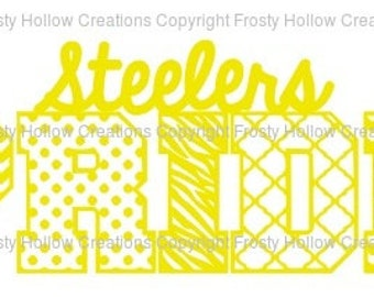 Steelers Pride cutting file SVG instant download PERSONAL USE only!