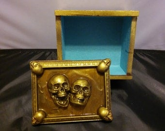 Handcrafted Greek Theater Mask Face's Wood Box Jewelry/Trinket/Keep