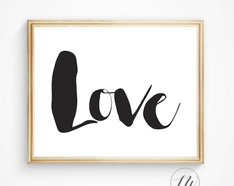 Wall quote, Love typography, digital love quote, printable love quote, love sign, love print, romantic gift, romantic quote, love wall decor