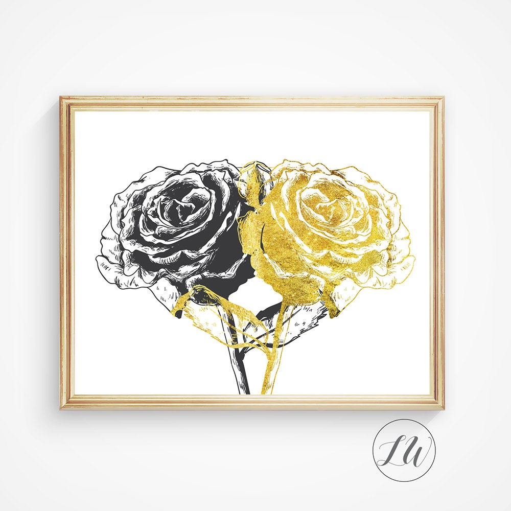 Black And Gold Wall Art - Elitflat