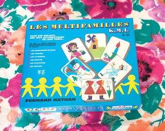 Vintage game Fernand Nathan, Les Multifamilles, 1968 Game. FRENCH GAME. Kids games. 60s Game. Mathematics and logic games. Educational games