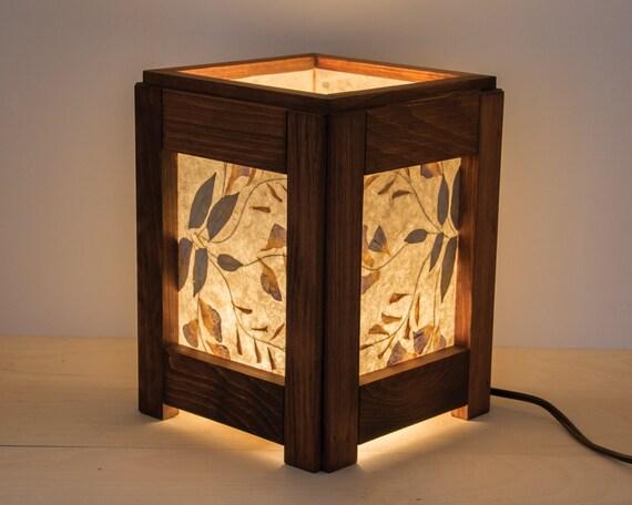 wooden lamp handmade reclaimed wood table lamp. Black Bedroom Furniture Sets. Home Design Ideas