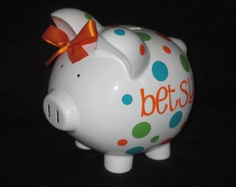 JUMBO  -  Piggy Q's Personalized Piggy Banks