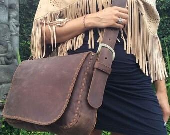 Handmade / Leather Handbag  / Leather Messenger Bag / Shoulder Bag / Body crosser