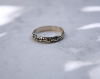 ROCKA - Blackened silver ring