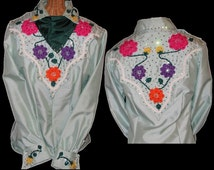 Custom Made Lady's Women's Vintage Western Suit with Embroidery and  Rhinestones