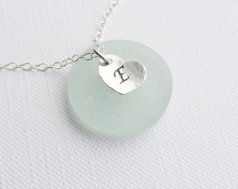 Personalised Sterling Silver Tiny Initial Heart Necklace