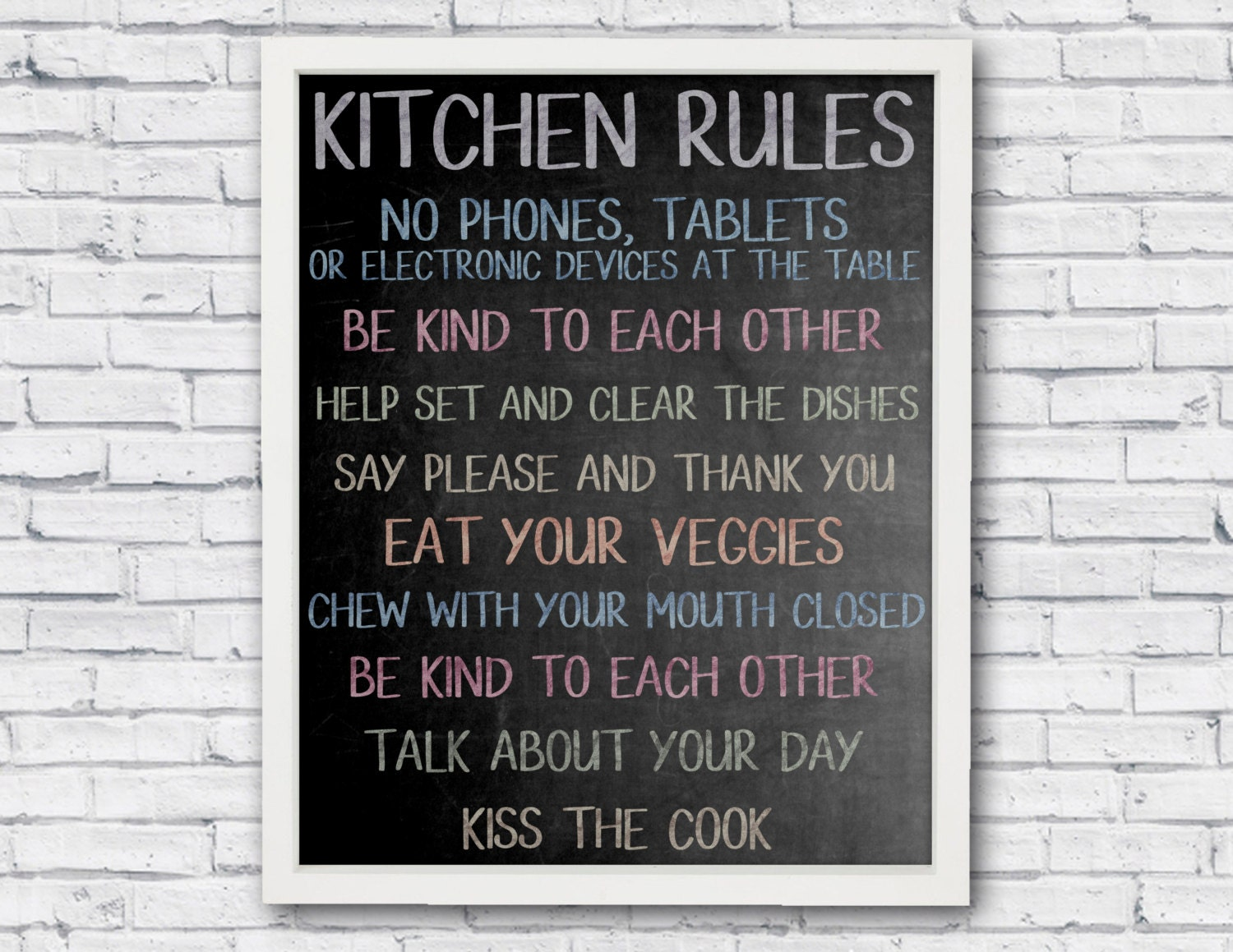 printable kitchen signs kitchen kitchen sign printable poster chalkboard 509