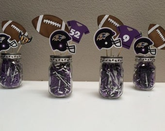 Football Themed Centerpieces - Super Bowl Party Centerpiece - Fantasy Football Party - Sports Banquet Centerpieces - Football Baby Shower