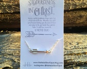 CLEARANCE!! Arrow Necklace Press Forward With A Steadfastness In Christ YW 2016 Gift Necklace