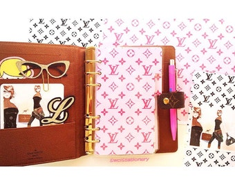 Louis Vuitton Planner Package. Dividers / inserts