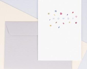 Hello Card / HOWDY