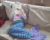 Child Size Crochet Mermaid Tail Snuggle Sack PATTERN, Mermaid Tail Pattern, Mermaid Blanket Pattern