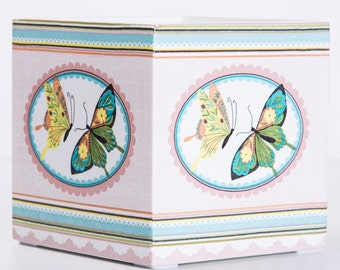 Wooden box with decoupage - Butterfly