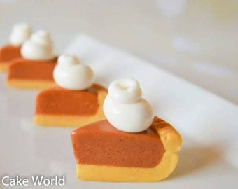 Pumpkin pie cake toppers