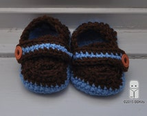 Baby loafers, Monk Strap Booties, Baby's first shoes, Crochet shoes, Moccasins, Adorable, baby boy shoes. Sample Sale, ready to ship