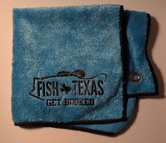 Microfiber Hand Towels: Fish Texas Microfiber Cloth Hand Towel With Groment. Mens