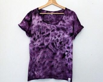 TyreDyes Tie Dye Tee Purple/Black