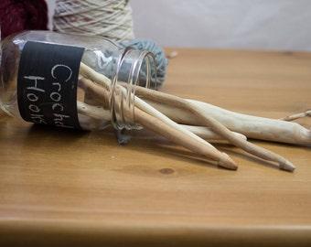 Ethical Primitive Wooden Crochet Hooks // maple // lilac // cedar