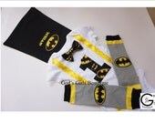 Personalized Batman 1st Birthday Smash Cake Party Outfit Photo Prop Bow Tie Onesie Baby Toddler Boys Shirt Onesie Cape