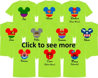 Disney Shirt SUPERHEROES Disney Vacation Group Shirts