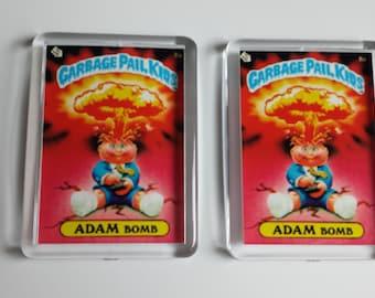 Adam Bomb Magnet garbage pail kids 2 pack