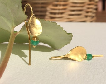 Teardrop earrings - Long leaves earrings - Leaves earrings - Long earrings - Drop earrings - Perfect gift - Gift for her - Gift under 30