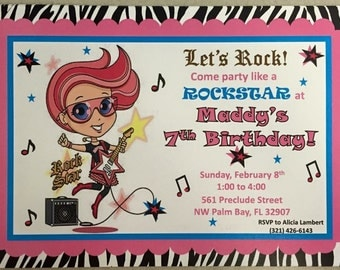 Rock Princess Invitation