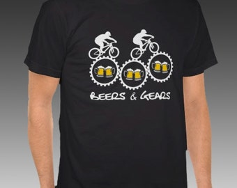 Beers & Gears T-Shirt, Men's American Apparel, USA-Made
