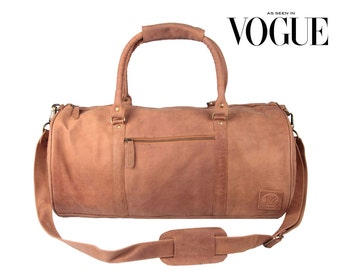 Leather weekend bag Leather duffle bag overnight bag gym