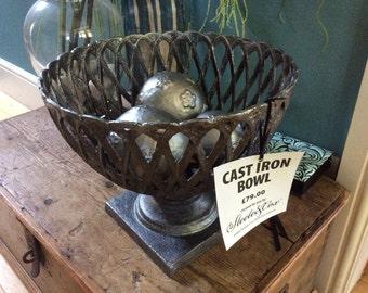SALE NOW 59.00GBP Ornamental Cast Iron Bowl