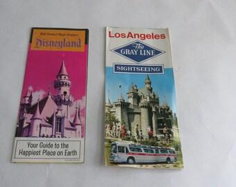 1969 Disneyland and 1970 Grayline brochures