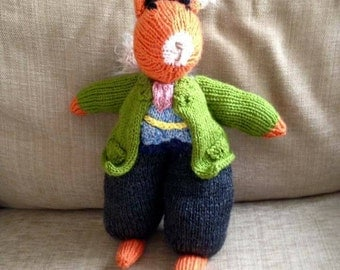Sidney Squirrel Hand Knitted Toy