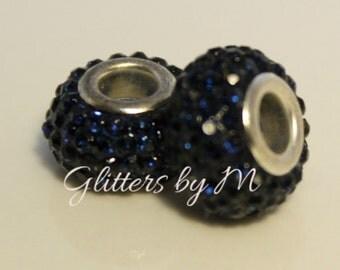 Dark Blue/Shapphire/Navy Crystal Rhinestone Bead for European Style Charm Bracelets
